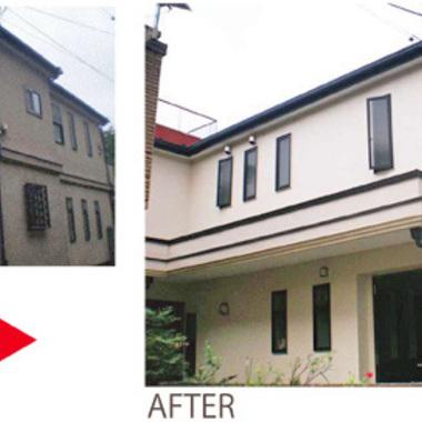 外壁塗装前 一部 塗装後