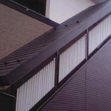 外装 階段部分 目隠し設置後