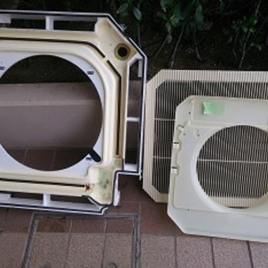 店舗 業務用エアコン 分解洗浄