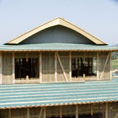 新築 屋根施工途中