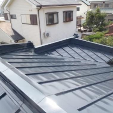 屋根塗装後 屋根部