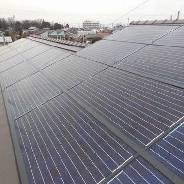 屋根工事 太陽光パネル設置後