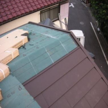 瓦 葺き替え工事風景1