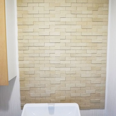 | トイレの壁 エコカラット施工 施工後