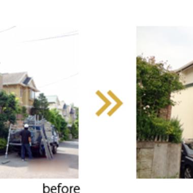 | 外壁塗装前後