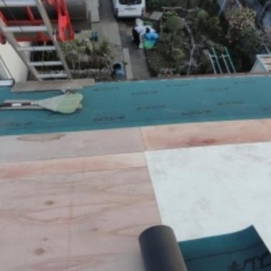 屋根下地工事完了