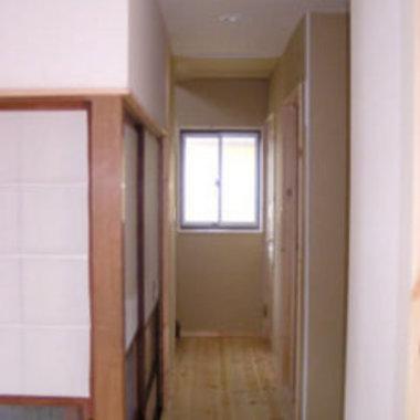 玄関廊下 床の張替え