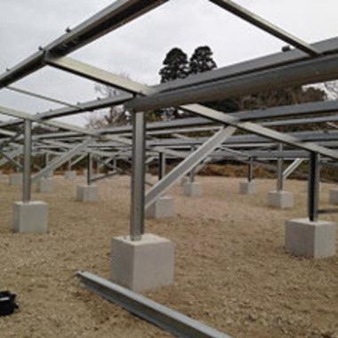 | 太陽光発電システム 50kwのパネル土台工事