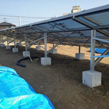 | 太陽光発電システム のパネル工事
