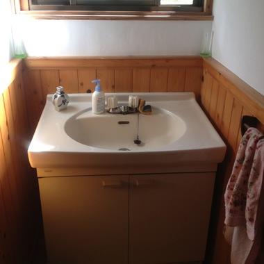 八女市✕洗面所リフォーム✕おしゃれな手洗いスペースにする工事の施工前写真(0枚目)