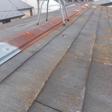 ガルバリウム屋根葺き替え前 痛み部分