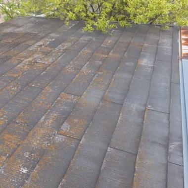 ガルバリウム屋根葺き替え前 剥がれ部分
