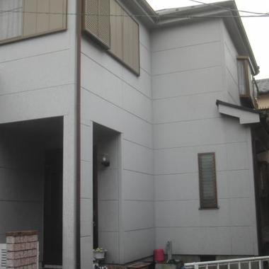 外壁塗装前 玄関