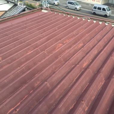 錆びあり金属屋根