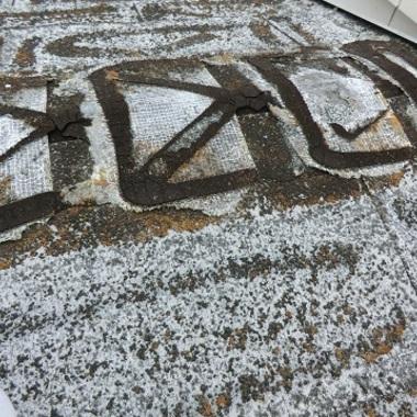 鉄筋コンクリートの家 屋根塗装前