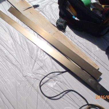 雨戸パネルを設置 材料
