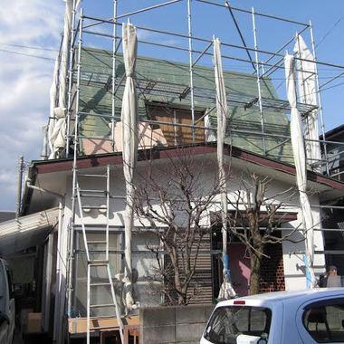 屋根と外装の塗装前 全体画像