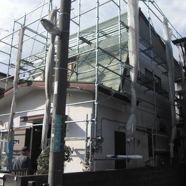 屋根と外装の塗装前