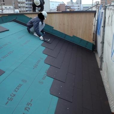 屋根張替え途中