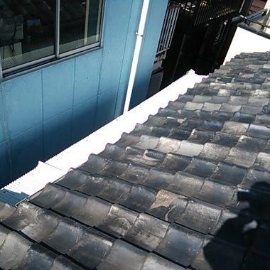 屋根工事 雪止め前