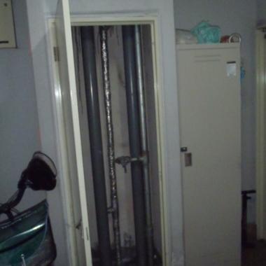 配管の水漏れ補修前