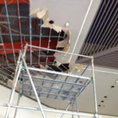 天井補修工事途中 天井解体