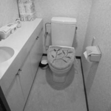 施工前の洋式トイレ