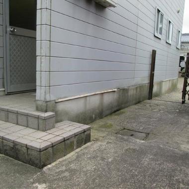 外壁一部サイディング張替え 前