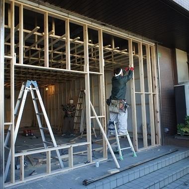 カラオケハウス店舗 外壁解体工事