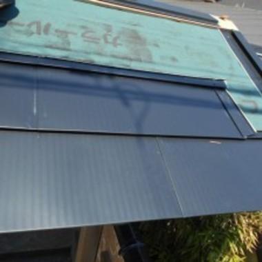 門の銅屋根交換施工中