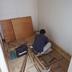 室内階段設置部分 床張り作業中