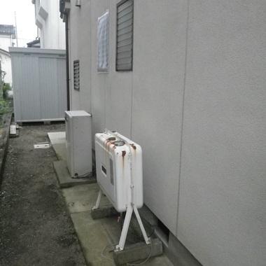 富山市 増改築工事前 室外機