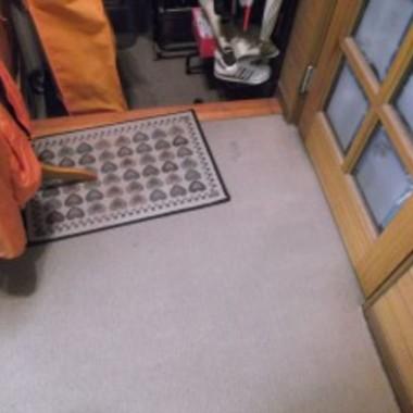 フローリング張替え前 玄関アップ画像
