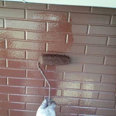 外壁塗装途中