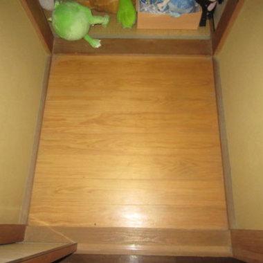 フローリング張替え前 階段上部