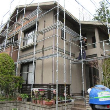 外壁塗装 屋根塗装前 斜め方向画像