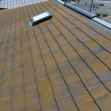 屋根塗装前 全体画像
