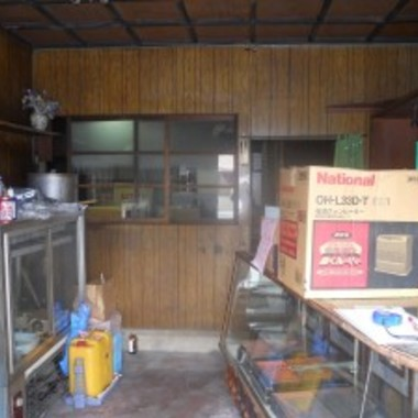 木造住宅リノベーション前 店舗部分
