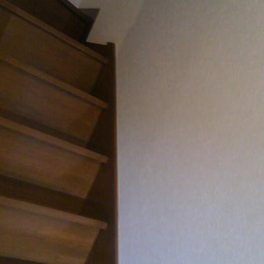 施工前の階段と壁