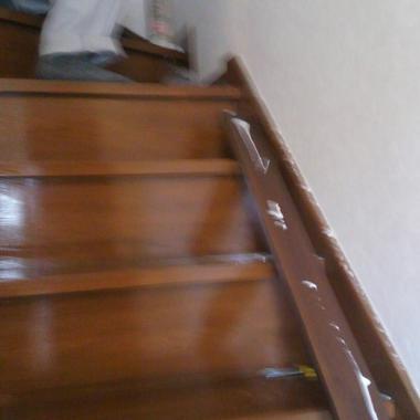 階段と手すり設置のための補強版