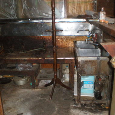 施工前の厨房