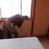 ベニヤ板の貼り付け作業