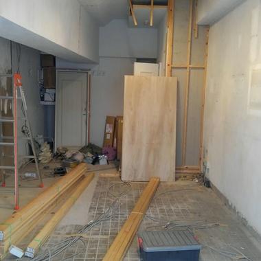 店舗内装の施工前写真(1枚目)