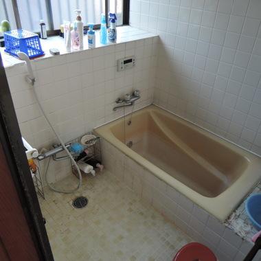 在来風呂~ユニットバスへ!の施工前写真(1枚目)