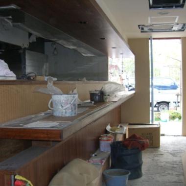 ラーメン屋の店舗解体の施工前写真(1枚目)