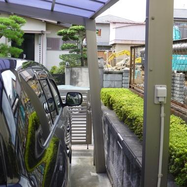 台風被害です。パート2の施工前写真(1枚目)