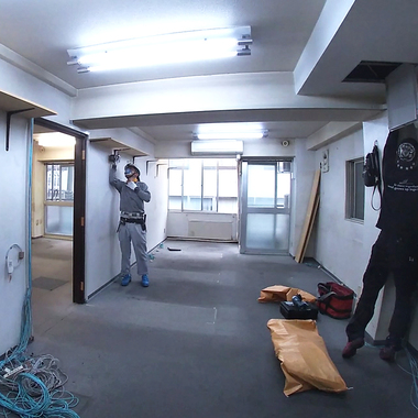 動画配信用レンタルキッチンスペースの内装工事の施工前写真(1枚目)