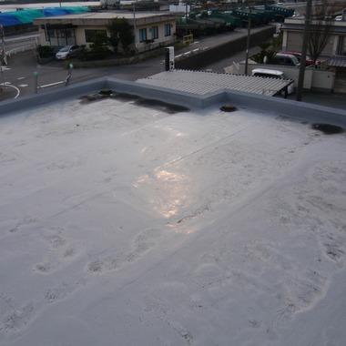 知多郡 屋根のウレタン防水工事の施工前写真(1枚目)