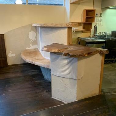 カフェから美容室への施工前写真(1枚目)