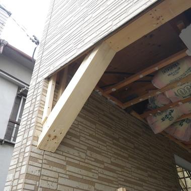 3F建て揺れを抑えるガレージ工事の施工前写真(1枚目)